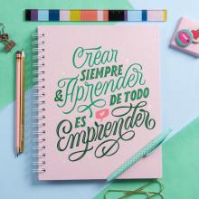 Crear, aprender, emprender. Un proyecto de H, lettering y Lettering de Caro Marando - 07.04.2020
