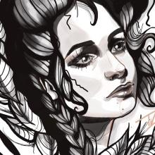 Mi Proyecto del curso: Ilustración Neo-Traditional Retrato . Un progetto di Illustrazione di Teissi Aranda - 09.04.2020