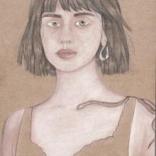 Mi Proyecto del curso: Ilustración con pastel y lápices de colores. Un proyecto de Bellas Artes, Pintura e Ilustración de retrato de Daniela Hugo - 10.04.2020