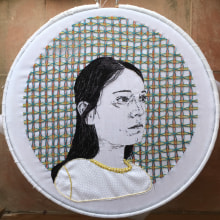 Autorretrato . A Embroider project by Irene García Garrido - 04.13.2020