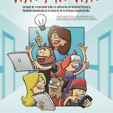 Hackathon social. Ilustración para Cruz Roja.. Un proyecto de Diseño de carteles e Ilustración de Javier Sánchez Nagore - 17.10.2017