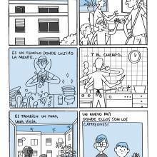 Reto de cómic experimental / diario dibujado de la cuarentena propuesto por Puño. A Comic project by AlexF - 04.15.2020