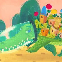 Alligator city. Un proyecto de Ilustración, Diseño de personajes, Ilustración digital, Ilustración infantil y Dibujo digital de Carlos Kno - 31.12.2018