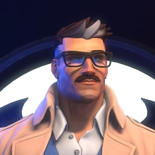 Commissioner James Gordon. A 3D, Character Design, Comic, 3D Animation, 3d modeling, and Video game project by gesiOH - 04.05.2020