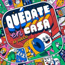 Quédate en casa, El juego. A Illustration, Spielzeugdesign, T, pografie und Lettering project by David Sierra Martínez - 21.04.2020