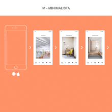 Mi Proyecto del curso: Dirección de arte digital - Startups - M-Minimalista. A Design, Web Design, Creativit, Digital Design, and App Development project by Richard jaspe - 04.23.2020