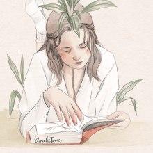 ilustración día del libro. Un proyecto de Ilustración de Amalia Torres - 23.04.2020