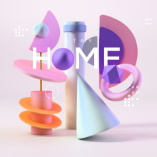 STAY HOME. A Art Direction, Photo retouching, 3d modeling, and Design 3D project by Camilo Valencia Gonzalez - 04.26.2020