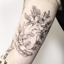 Sea Heart ♥. Un projet de Conception de tatouage de Vitória Vilela - 27.04.2020
