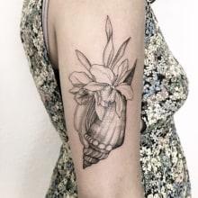 Seashell. Un projet de Conception de tatouage de Vitória Vilela - 27.04.2020