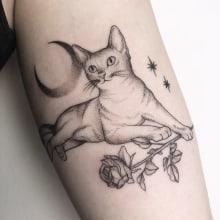 Lovecat. Un projet de Conception de tatouage de Vitória Vilela - 27.04.2020
