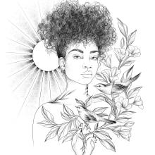 Solar . Un projet de Conception de tatouage de Vitória Vilela - 27.04.2020