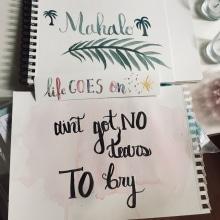 Mahalo. Un projet de Lettering , et Aquarelle de Áquila Faré - 28.04.2020