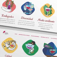 Manifiesto Vino. Un proyecto de Ilustración, Br, ing e Identidad, Ilustración vectorial y Diseño de iconos de Anabel Najar Colom - 07.11.2017