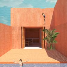 My project in Architectural Visualization Using Digital Collage course. Un proyecto de Arquitectura digital de Andrea Arrieta - 30.04.2020
