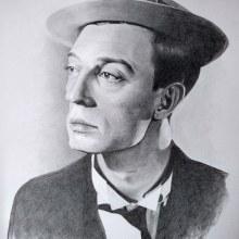 Mi Proyecto del curso: Buster Keaton. A Bleistiftzeichnung, Zeichnung und Realistische Zeichnung project by mari_bc - 03.05.2020