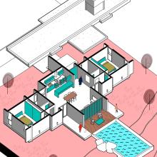Mi Proyecto del curso: Ilustración digital de proyectos arquitectónicos. Un proyecto de Diseño, 3D, Arquitectura, Arquitectura interior, Paisajismo, Postproducción, Collage, Retoque fotográfico, Animación 3D, Creatividad, Dibujo, Concept Art, Arquitectura digital, Diseño 3D, Composición fotográfica y Pintura digital de Alejandro Pineda - 04.05.2020