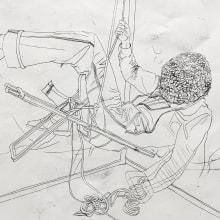 Suspend. A Zeichnung, Prägung, Porträtzeichnung und Artistische Zeichnung project by Camille Labarre - 05.05.2014