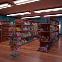 Tienda de souvenirs acuario.. Un proyecto de 3D, Arquitectura y Modelado 3D de Alvaro Juarez - 03.05.2020