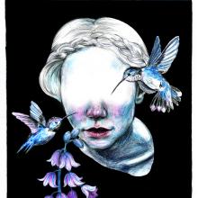 Mi Proyecto del curso: Retrato creativo en claroscuro con lápiz. Um projeto de Ilustração, Desenho a lápis, Desenho de Retrato, Desenho realista e Desenho artístico de Vrigit Smith - 10.05.2020
