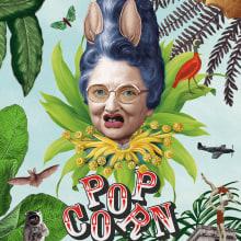 Proyecto del curso: Ilustración con collage digital enfocado a producto - Popcorn. Un progetto di Illustrazione , e Collage di Pau Sardiné - 10.05.2020