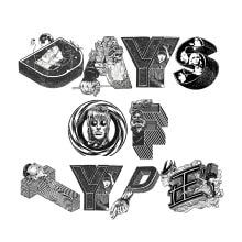 36 DAYS OF TYPE 2020. A Illustration, T, pografie und Musikproduktion project by Danielo Campbells - 10.05.2020