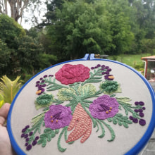 Mi Proyecto del curso: Técnica de bordado con paso atrás. A Embroider project by Heidy Pacheco - 05.11.2020