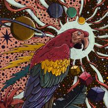 Fast Money Music. Um projeto de Ilustração, Artes plásticas, Design gráfico, Desenho e Design de cartaz de Pedro Correa - 14.05.2020