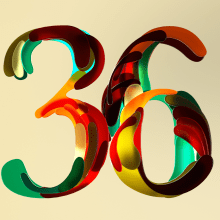Half Japanese numbers (36 days of type 07). A 3-D, Kunstleitung, T, pografie, 3-D-Animation, 3-D-Lettering, T und pografisches Design project by Erich Gordon - 30.03.2020