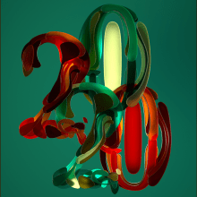 2020 the year of COVID - 19 broke. A 3-D, Kunstleitung, T, pografie, 3-D-Lettering, T und pografisches Design project by Erich Gordon - 28.04.2020