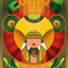 International Reggae Poster Contest 2020. Un proyecto de Diseño, Dirección de arte, Ilustración vectorial y Diseño de carteles de Luis Daniel Pérez Molina - 10.05.2020
