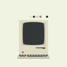 Macintosh 1984. Un proyecto de Diseño, Ilustración y Dibujo digital de Roberto Aceves - 11.05.2020
