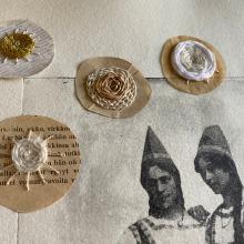 My project in Experimental Embroidery Techniques on Paper course. Um projeto de Colagem, Estampagem e Bordado de Katri Niinikangas - 17.05.2020