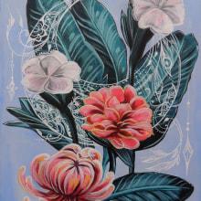 Mi Proyecto del curso: Pintura botánica con acrílico. Un projet de Peinture, Peinture acr, lique et Illustration botanique de Karina - 18.05.2020