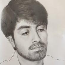 Retrato a lápiz de Raúl. A Bleistiftzeichnung, Porträtzeichnung, Realistische Zeichnung und Artistische Zeichnung project by Luz de María Felices Lizarbe - 21.03.2020