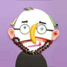 My project in Creativity Face to Face: A Playful Collage Journey course. A Illustration, 3-D, Design von Figuren, H, werk, Collage, Porträtillustration, DIY und Kreativität mit Kindern project by Hanoch Piven - 21.05.2020