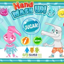 Hand Washup!. Un proyecto de Diseño de personajes, Animación 2D, Videojuegos, Diseño de videojuegos, Desarrollo de videojuegos y Diseño de apps de Jorge de Juan - 21.05.2020
