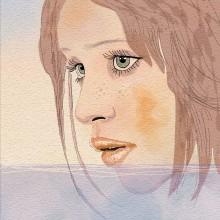 Memory of summer - My project in Illustration Techniques with Digital Watercolor course. Un progetto di Disegno artistico di koutna.marianna - 24.05.2020