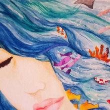 Mi Proyecto del curso: la profundidad del deseo. A Illustration, Malerei, Kreativität, Zeichnung, Aquarellmalerei und Kinderillustration project by Natascha Ikonicoff - 24.05.2020