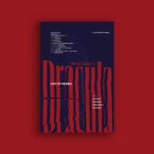 Dracula. Diseño de carteles tipográficos experimentales. Un progetto di Collage , e Design tipografico di Pau Sardiné - 25.05.2020