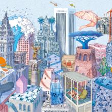 Fantastic Cities. Un progetto di Illustrazione architettonica e Illustrazione di Carlo Stanga - 25.05.2020