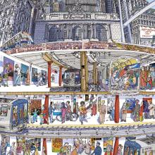 MTA-New York - Poster. Un progetto di Illustrazione, Design di poster  e Illustrazione architettonica di Carlo Stanga - 25.05.2020