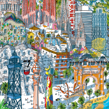 Barcelona Puzzle. A Illustration, and Architectural illustration project by Carlo Stanga - 05.25.2020