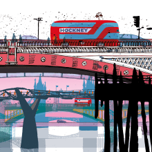 London Bridges. A Illustration, Architecture, and Architectural illustration project by Carlo Stanga - 05.26.2020