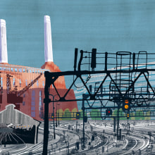 Stations and industrial Architecture. A Illustration, and Architectural illustration project by Carlo Stanga - 05.26.2020