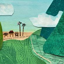 Huay Bo, Laos. Ilustración de historias con papel. Un proyecto de Ilustración, Diseño de personajes, Artesanía, Diseño editorial, Collage, Creatividad, Dibujo e Ilustración infantil de Natalia Almada - 24.05.2020
