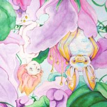 Mi Proyecto del curso: Animalario botánico: acuarela, tinta y grafito. A Painting, Pencil drawing, Drawing, Watercolor Painting, and Botanical illustration project by Paola Carrera Ramírez - 05.27.2020