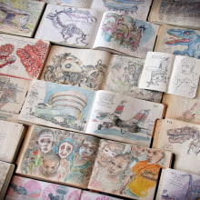 Extracts from my most recents sketchbooks.. A Illustration, Skizzenentwurf und Sketchbook project by Lapin - 27.05.2020