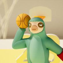 Dazzy Dunk. Um projeto de Design de personagens, Arte urbana, Animação de personagens, Animação 3D, Design de personagens 3D e 3D Design de Jaime Alvarez Sobreviela - 27.05.2020