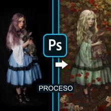 Proyecto personal: Homenaje a Benjamin Lacombe. Un proyecto de Ilustración digital y Retoque fotográfico de Alexandra Martín García | ArtDrómeda - 29.05.2020